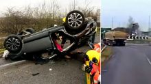 Mum jailed for drunk driving after flipping car with baby on board