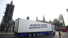 'Brexit carnage: shellfish trucks protest in London over export chaos