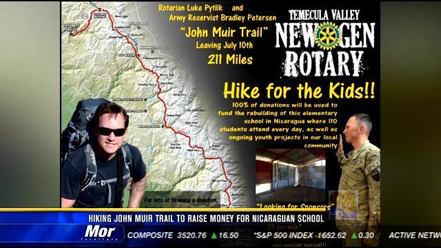 Man hiking John Muir Trail to raise money for Nicaraguan school