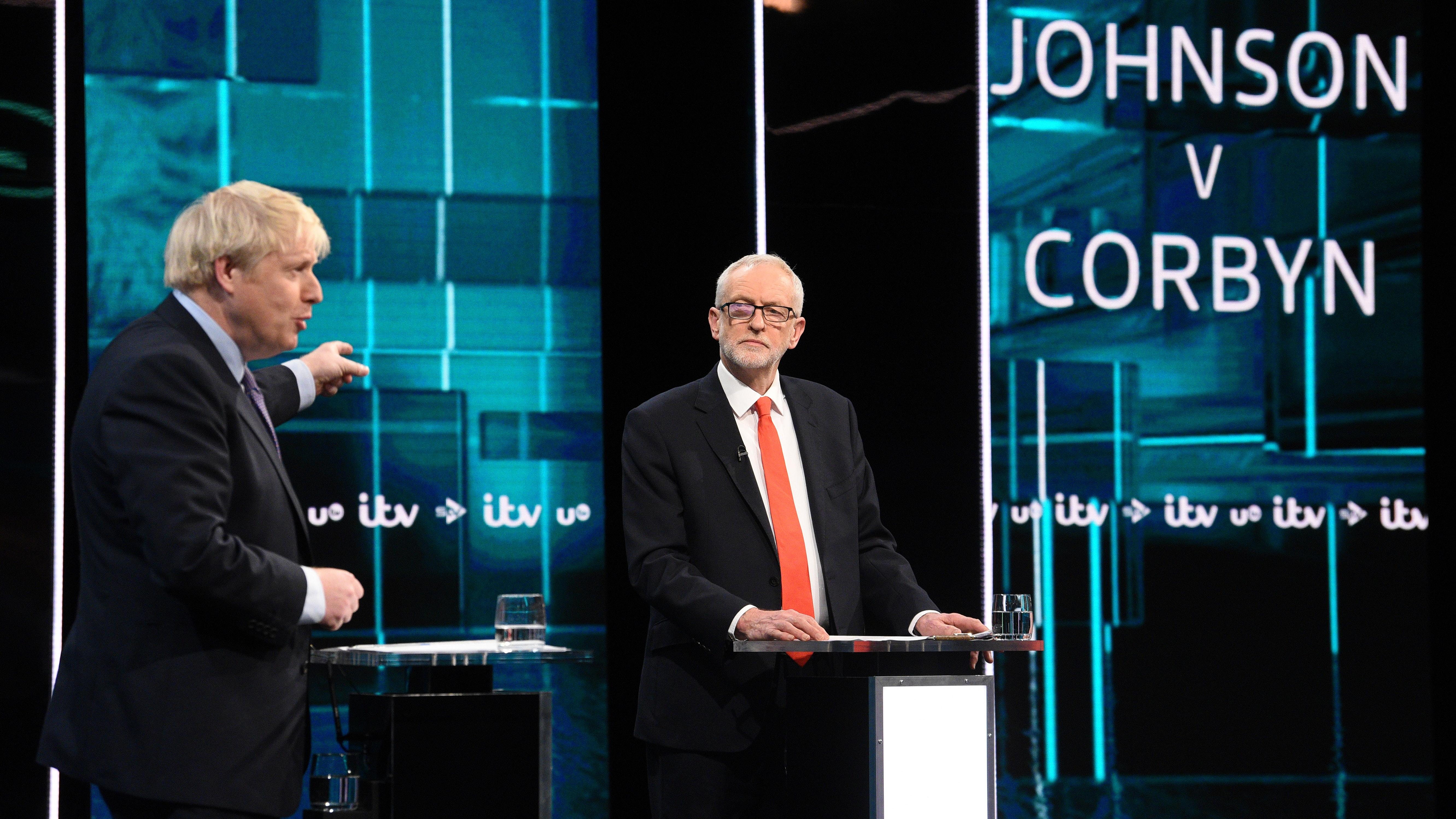 Johnson and Corbyn clash over Brexit in first TV debate of General Election