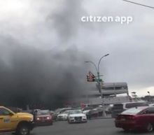 Kings Plaza fire: At least 21 injured as firefighters tackle blaze at Brooklyn shopping centre parking lot