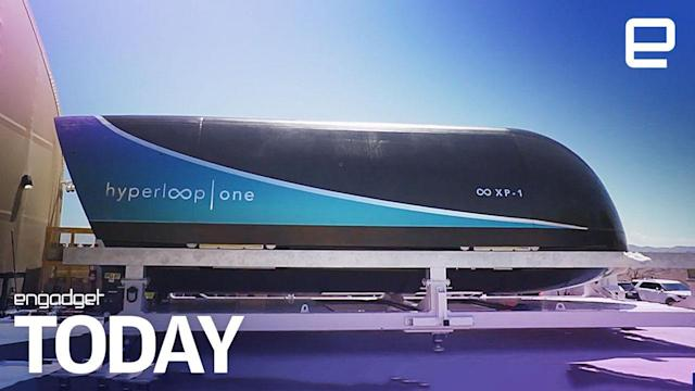 Hyperloop One's passenger pod takes its first ride