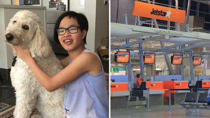 Autistic girl in tears after Jetstar refused to board support dog