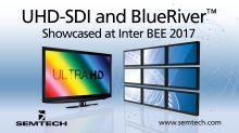 Semtech Demonstrates Award-Winning Broadcast Video Platform and BlueRiver™ AV-over-IP Products at Inter BEE 2017