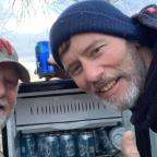 'Magic fridge' full of cold beer found in flooded Nebraska field