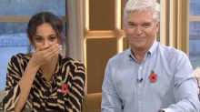Rochelle Humes leaves viewers in hysterics after rude word stumble