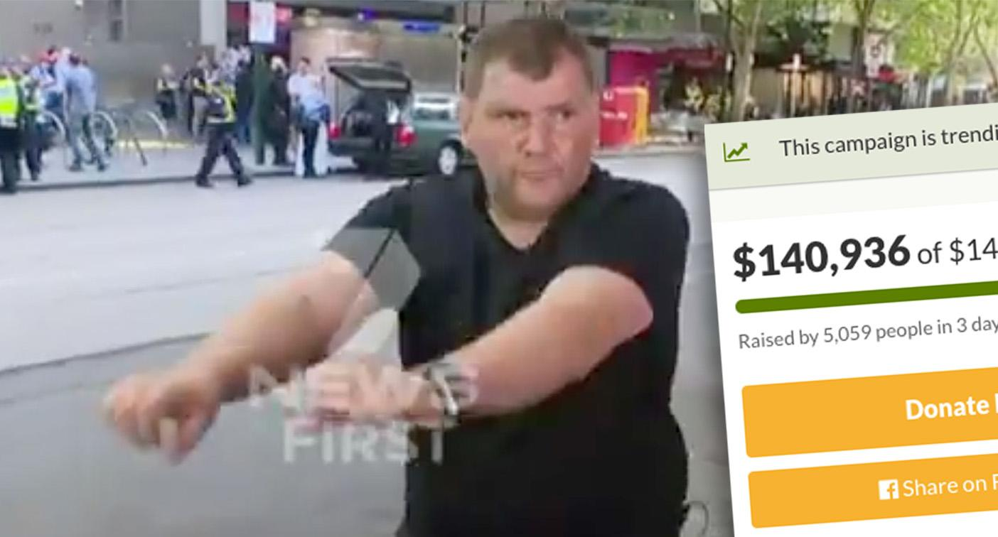 'Trolley man' reveals how he will spend $140,000 raised after Bourke St attack