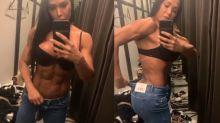 Gracyanne mostra para fãs como consegue usar calça jeans com o 'bumbum na nuca'