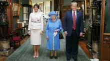 Can you spot the mistake in the Queen's photo with Donald and Melania Trump?