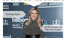 Look des Tages: Sängerin Kelly Clarkson im High-Waist-Lederrock