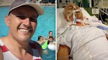 How a scratch from a swimming pool left a dad fighting for his life