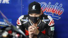 Moto - MotoGP - Andalousie - Kylian Mbappé félicite Fabio Quartararo, vainqueur du Grand Prix d'Andalousie
