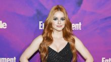 Ariel Winter Shows Off Her New Red Locks in Strapless Dress