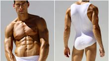 These one-piece underwear for men are so popular that they're making a swimwear version