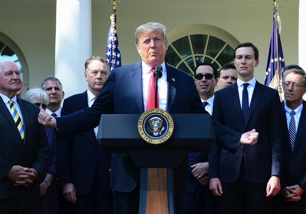 US President Donald Trump, pictured at the White House on October 1, 2018, has made cracking down on illegal immigration a keystone of his presidency (AFP Photo/Jim WATSON)