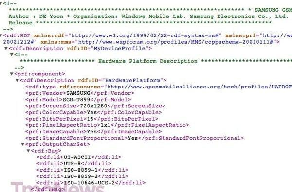Samsung SGH-T899 for T-Mobile emerges on the web with potential Windows Phone 8, LTE