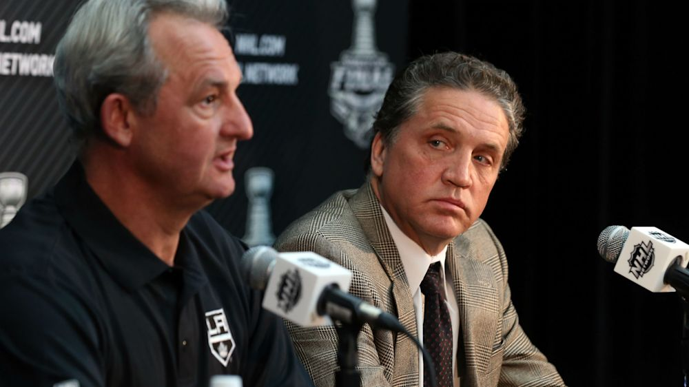 Cup-winning Darryl Sutter, Dean Lombardi out in Kings shake-up; Luc Robitaille, Rob Blake in