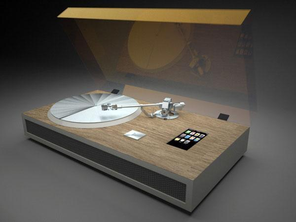 iPhone turntable concept brings dropped calls to your record collection