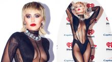 Miley Cyrus flashes underboob in sheer bodysuit: 'So amazing'