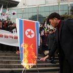 Kim Jong Un's Olympics? South Koreans Burn Dictator's Effigy During North Korea's Delegation Visit