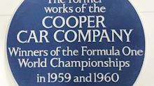 Cooper racing workshop recognised with English Heritage 'blue plaque'