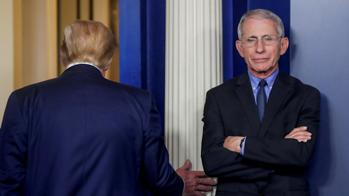 Fauci reveals his reaction to Trump's bleach suggestion