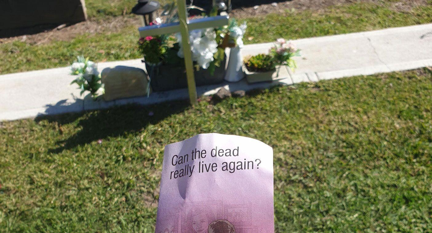 Mum who lost her son discovers 'disgusting' pamphlet at his grave site