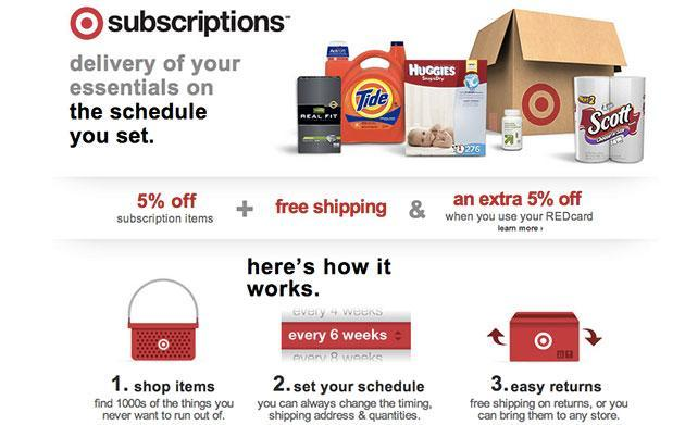 Target improves online subscriptions, hopes you'll drop Amazon for monthly shipments