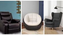 BEST DEALS: 10 one-seater couches to snuck up in any room