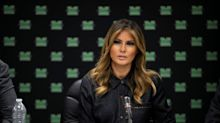 First Lady Melania Trump rings the opening bell at the New York Stock Exchange