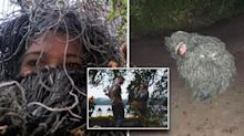 Woman disguises herself in bush costume to covertly photograph sister's proposal