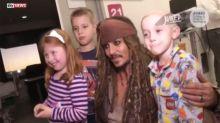 Johnny Depp Surprises Kids In Hospital Dressed As Jack Sparrow