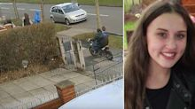 Police release CCTV of shocking moment teenage girl is hit by off-road bike on pavement