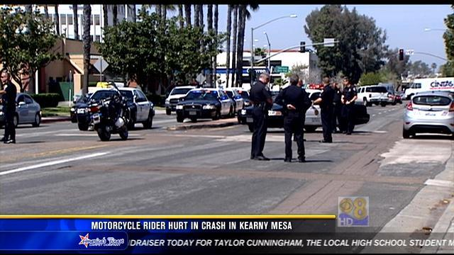 Motorcyclist suffers serious injuries in Kearny Mesa crash