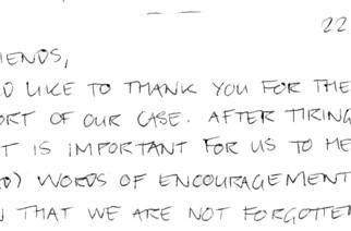 Jailed ARMA devs thank fans and friends for support in handwritten note