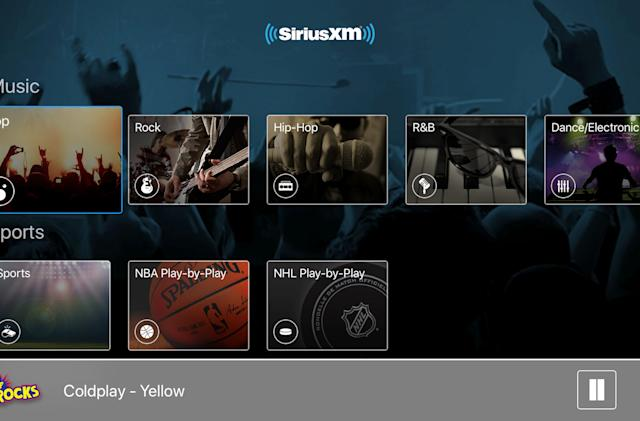 SiriusXM now streams radio stations to your Apple TV