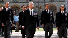 Prince Harry and Prince William reunite at Prince Philip's funeral
