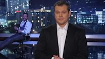Matt Damon Takes Over 'Jimmy Kimmel Live'