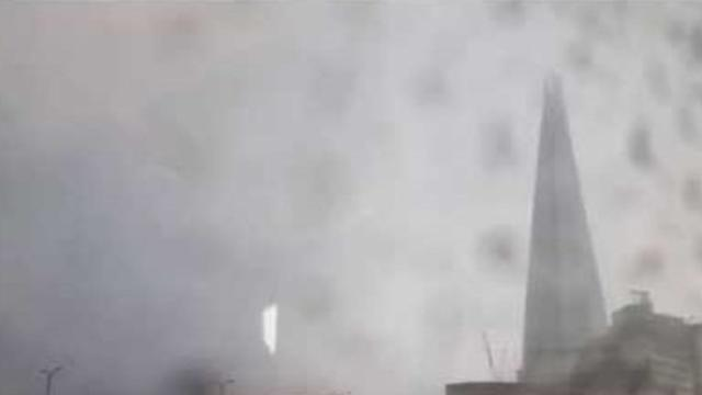 London's Shard Struck by Lightning
