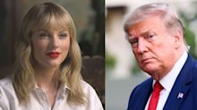 """Taylor Swift Calls Trump Out Directly for """"Stoking the Fires of White Supremacy and Racism"""""""