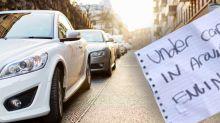 Terrifying reason stranger plastered notes 'all over' woman's car