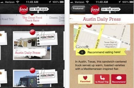 Daily iPhone App: Food Network On the Road points you to the best eats in your area