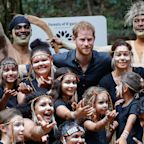 Duke of Sussex jokes plaque unveiling 'runs in family' as Duchess takes break from busy Australia tour