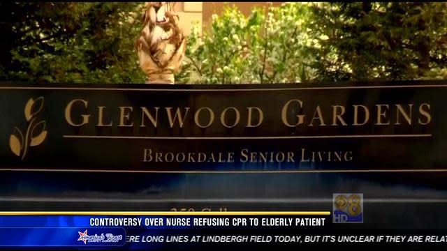 Controversy over nurse refusing CPR to elderly patient