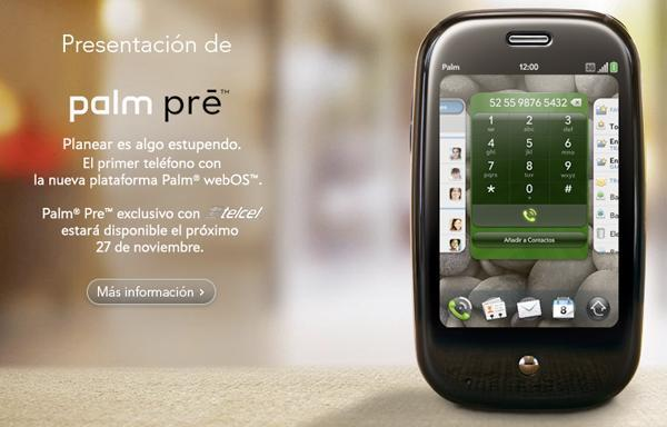 GSM Palm Pre bound for Mexico, coming to Telcel on November 27th