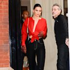 Kendall Jenner's Bright-Red Plunging Crop Top Is One Way to Be Festive on Valentine's Day