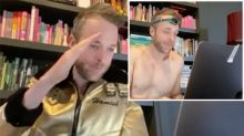 Hamish Blake crashes people's work Zoom meetings