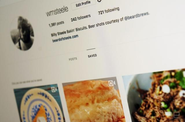 Instagram's Pinterest-like bookmarked posts hit the web