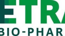 Tetra Bio-Pharma Accelerates REBORN1© Trial
