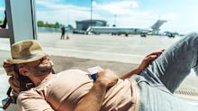 Is it rude to sleep on the floor of an airport?